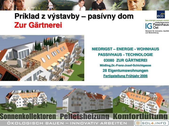 Príklad z výstavby – pasívny dom