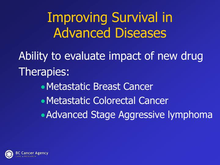 Improving Survival in Advanced Diseases