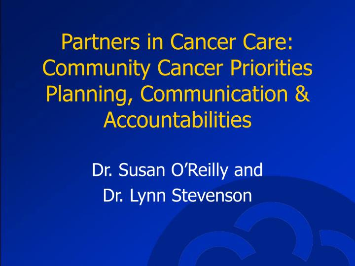 Partners in Cancer Care: