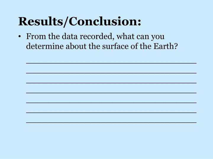 Results/Conclusion: