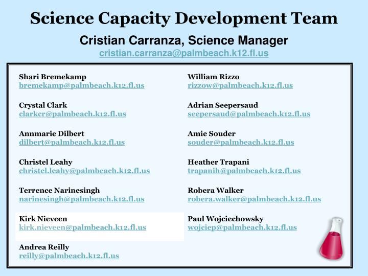 Science Capacity Development Team