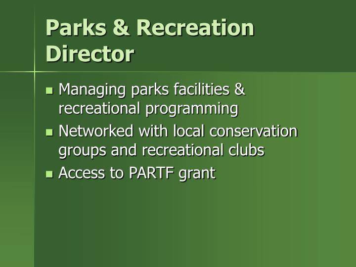 Parks & Recreation Director