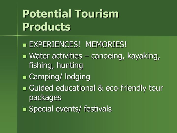 Potential Tourism Products