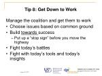 tip 8 get down to work