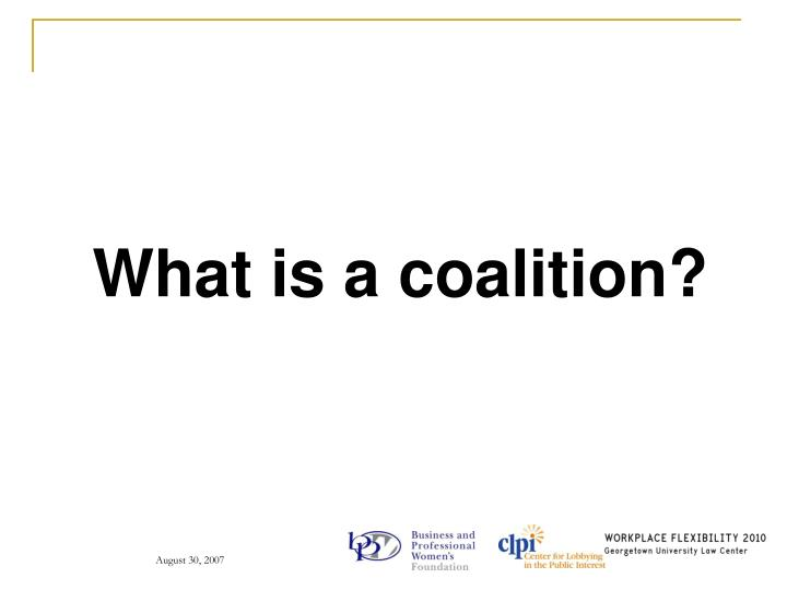 What is a coalition?