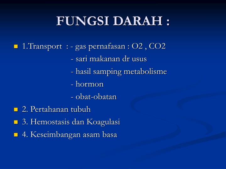 FUNGSI DARAH :