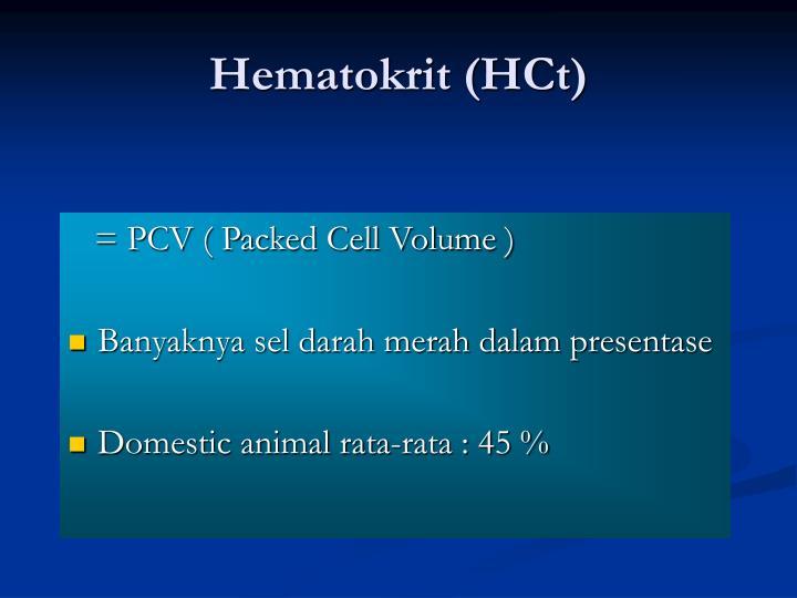 Hematokrit (HCt)