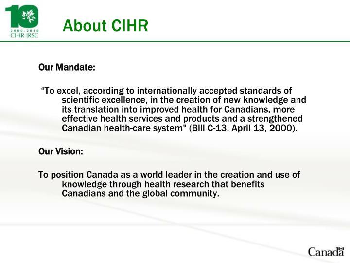 About CIHR