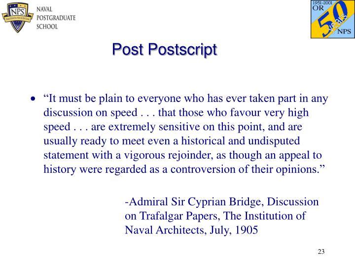 Post Postscript