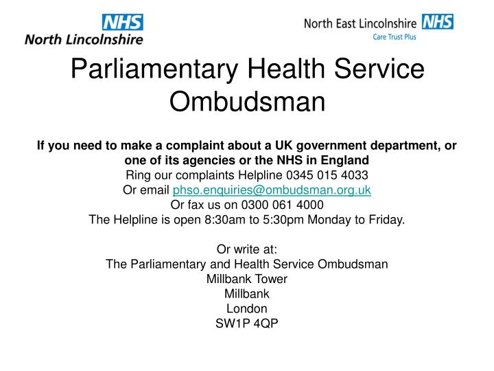 Parliamentary Health Service Ombudsman