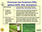 pertanyaan dan penjelasan phsl aplikasi hape web smartphone