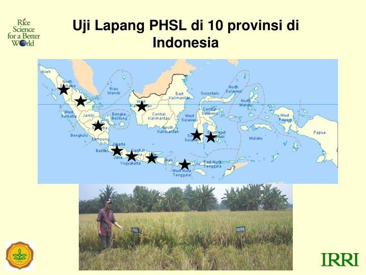 Uji Lapang PHSL di 10 provinsi di Indonesia