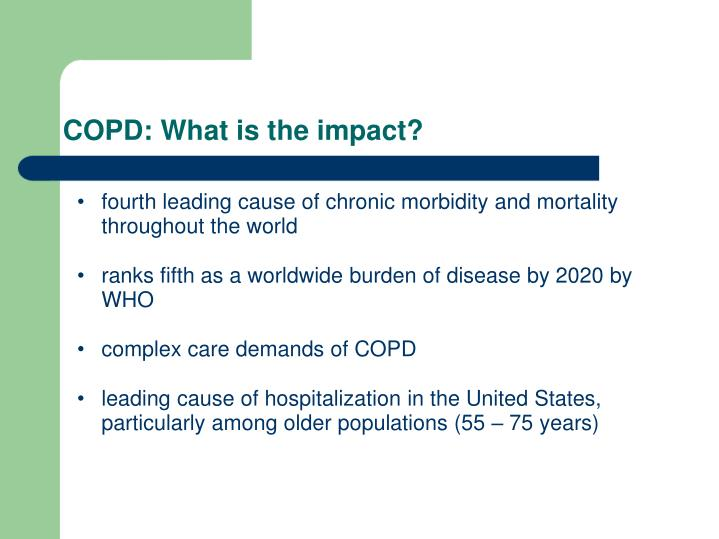 COPD: What is the impact?