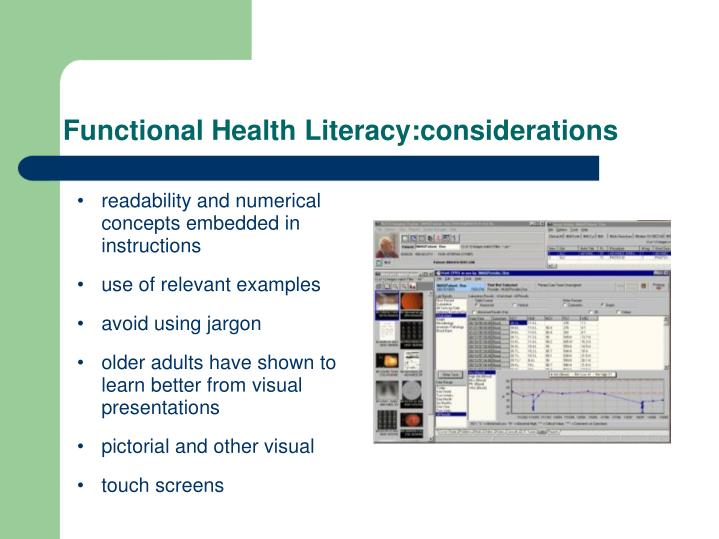 Functional Health Literacy:considerations