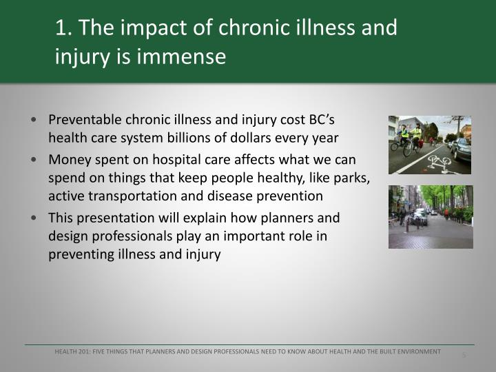 1. The impact of chronic illness and injury is immense