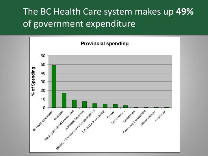 The BC Health Care system makes up