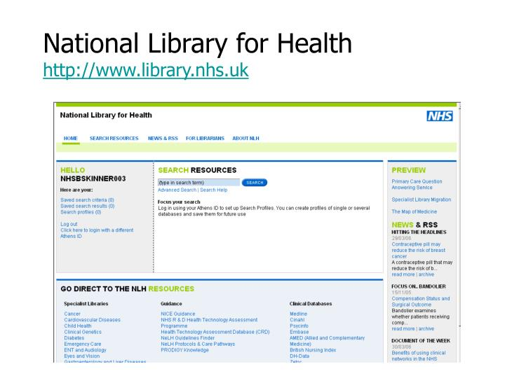 National Library for Health