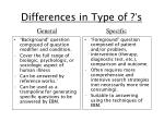 differences in type of s