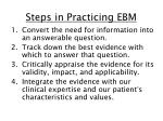 steps in practicing ebm