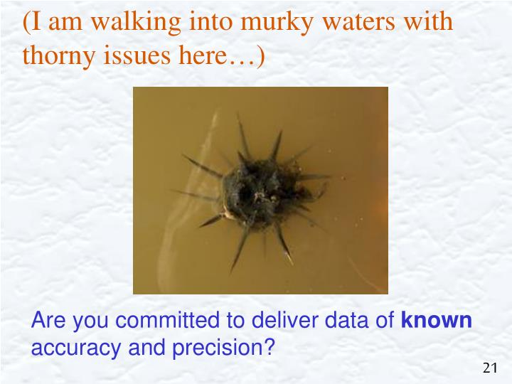(I am walking into murky waters with thorny issues here…)