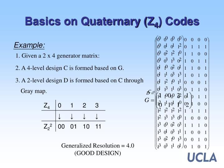 Basics on Quaternary (Z