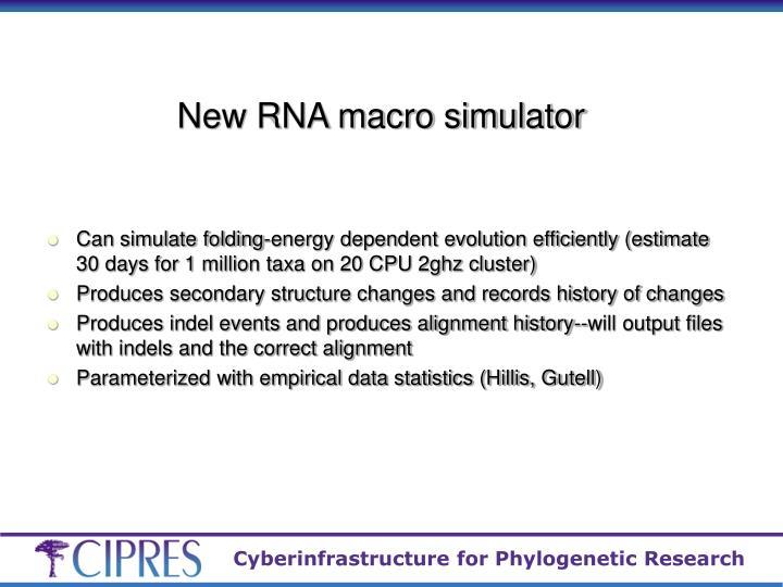 New RNA macro simulator