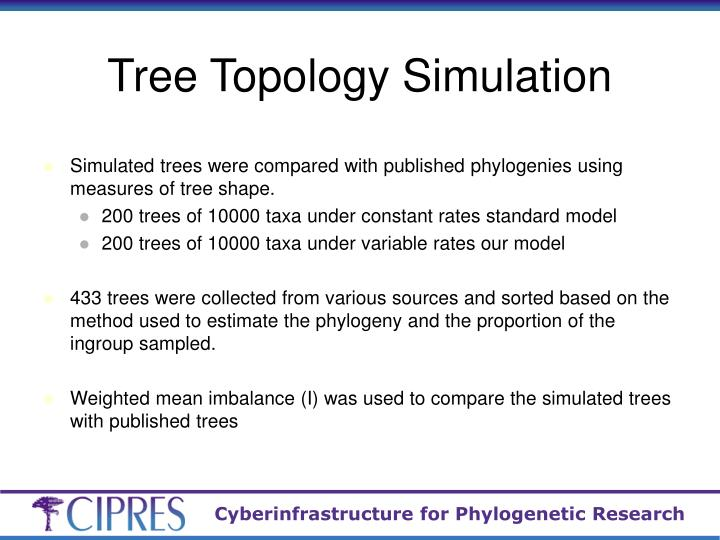 Tree Topology Simulation