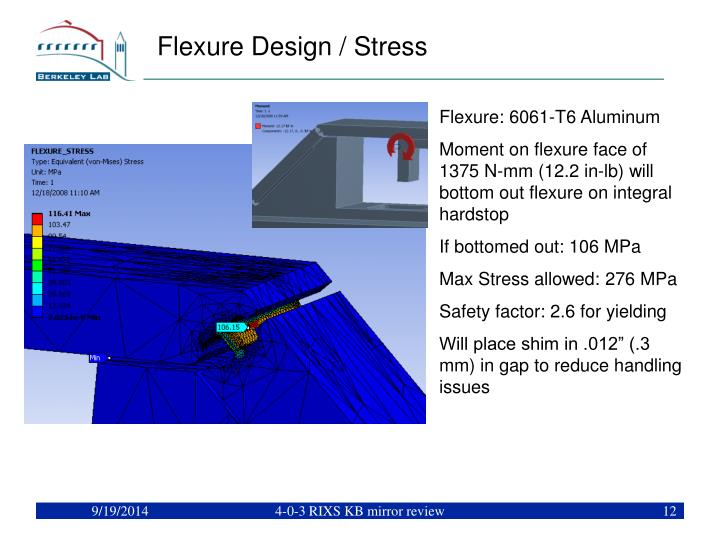 Flexure Design / Stress