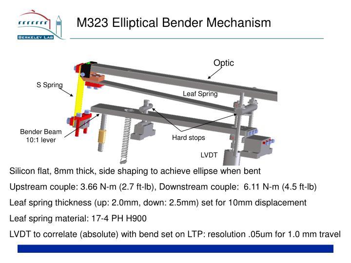 M323 Elliptical Bender Mechanism