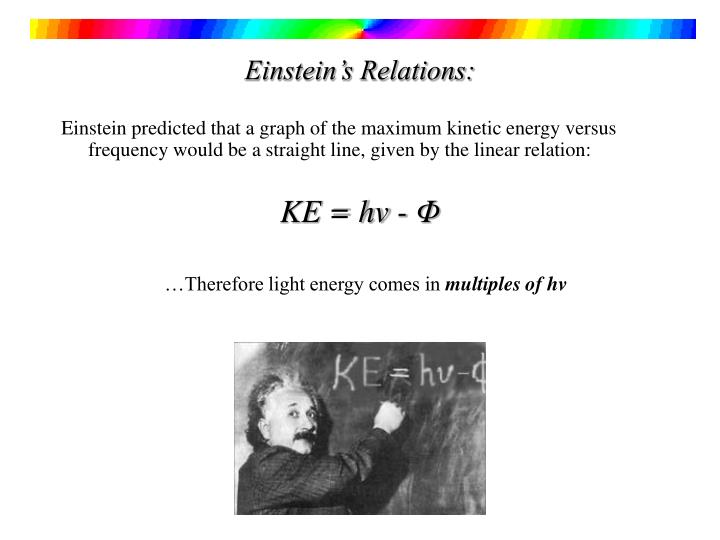 Einstein's Relations:
