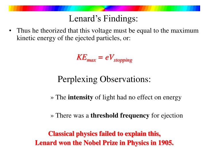 Lenard's Findings: