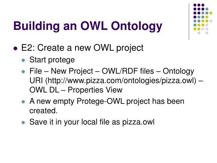 Building an OWL Ontology