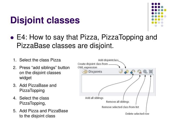 Disjoint classes