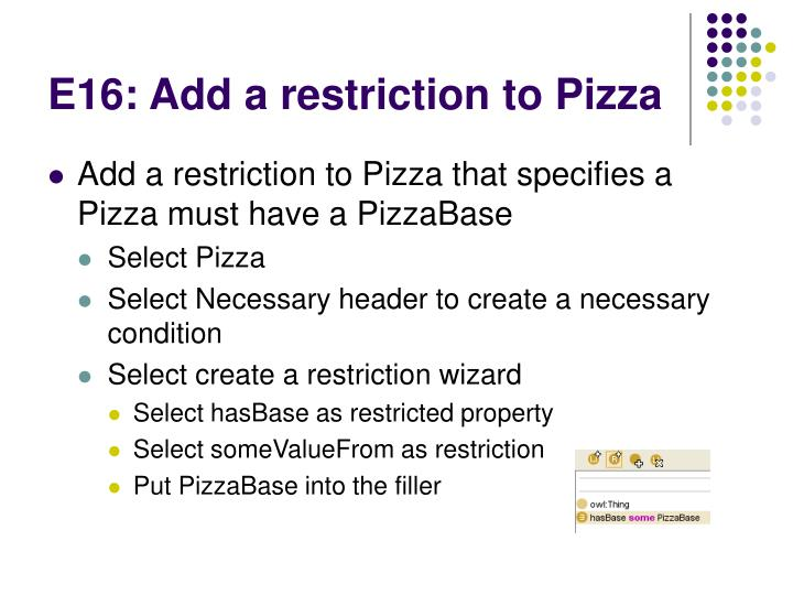 E16: Add a restriction to Pizza