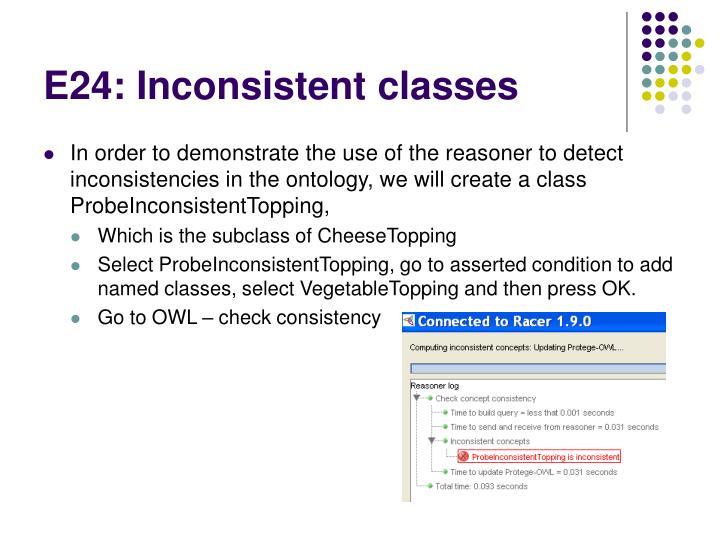E24: Inconsistent classes
