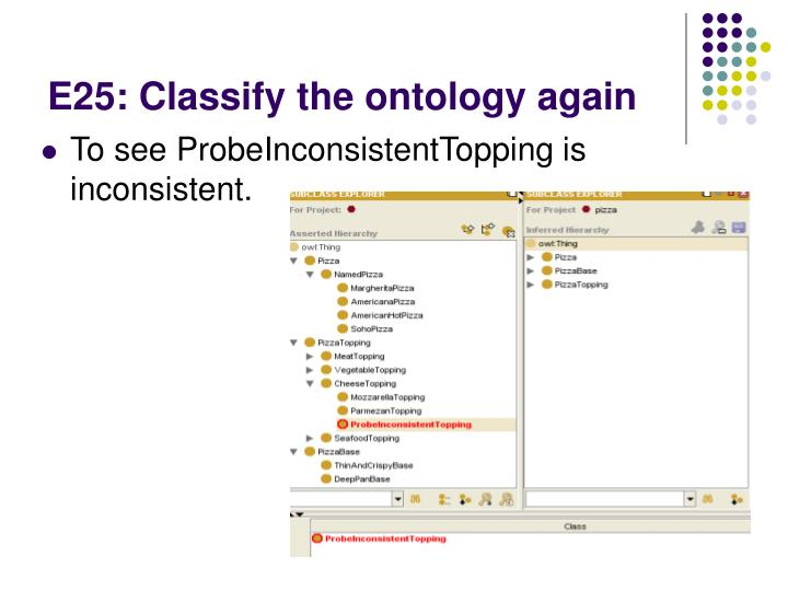 E25: Classify the ontology again