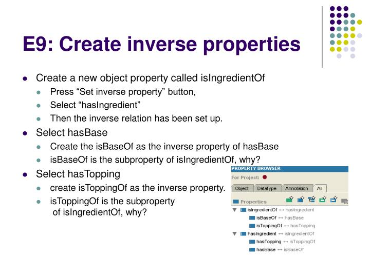 E9: Create inverse properties