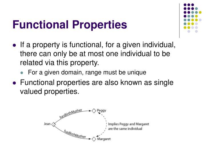 Functional Properties