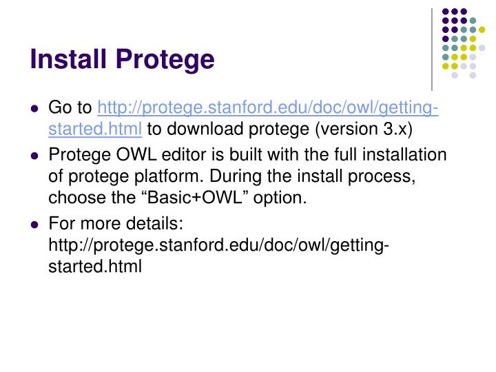 Install protege
