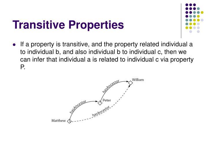 Transitive Properties