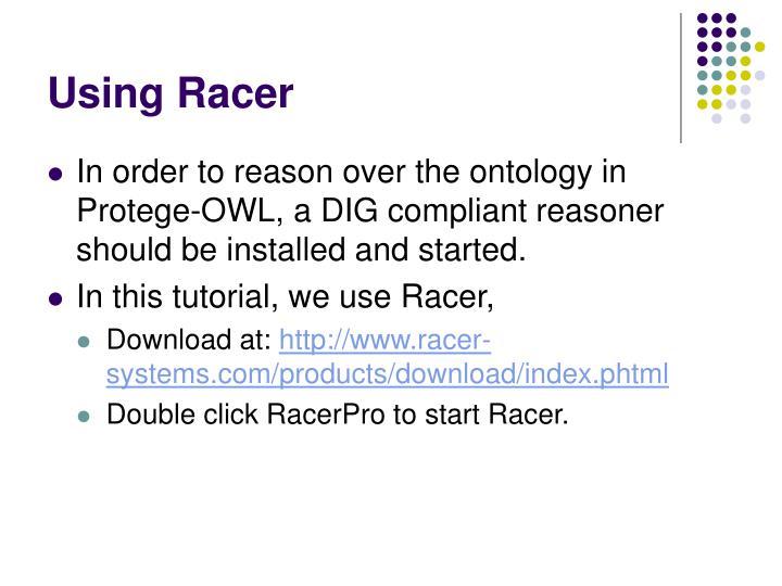 Using Racer