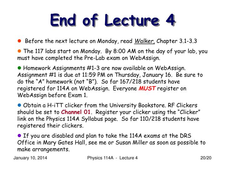 Before the next lecture on Monday, read