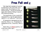 free fall and g
