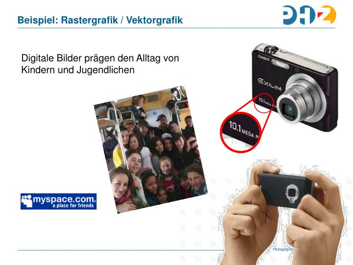 Beispiel: Rastergrafik / Vektorgrafik