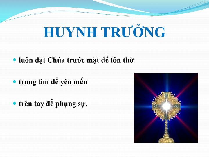 HUYNH TRƯỞNG