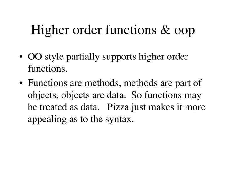 Higher order functions & oop