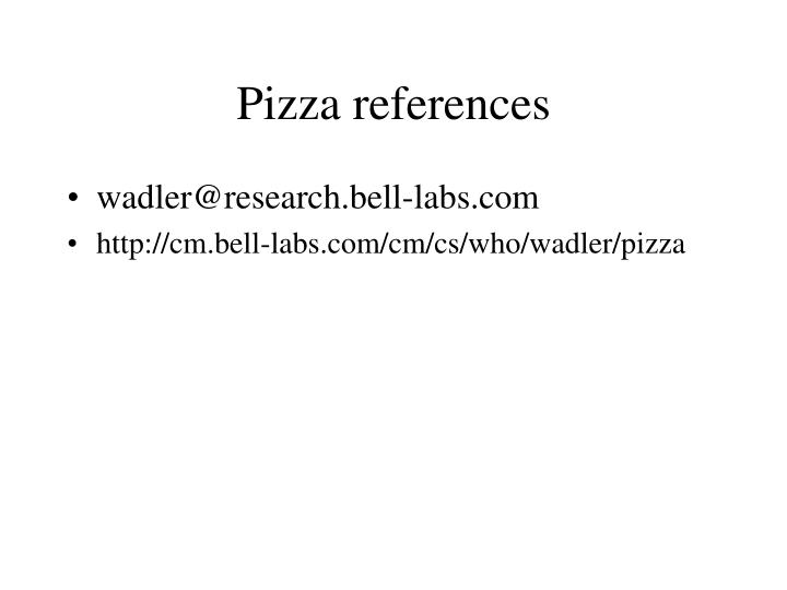 Pizza references