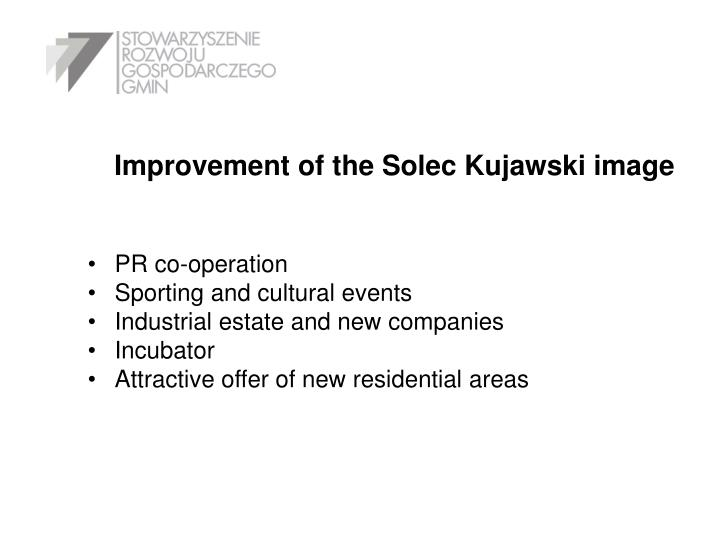 Improvement of the Solec Kujawski image