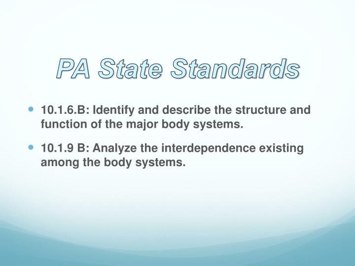 PA State Standards
