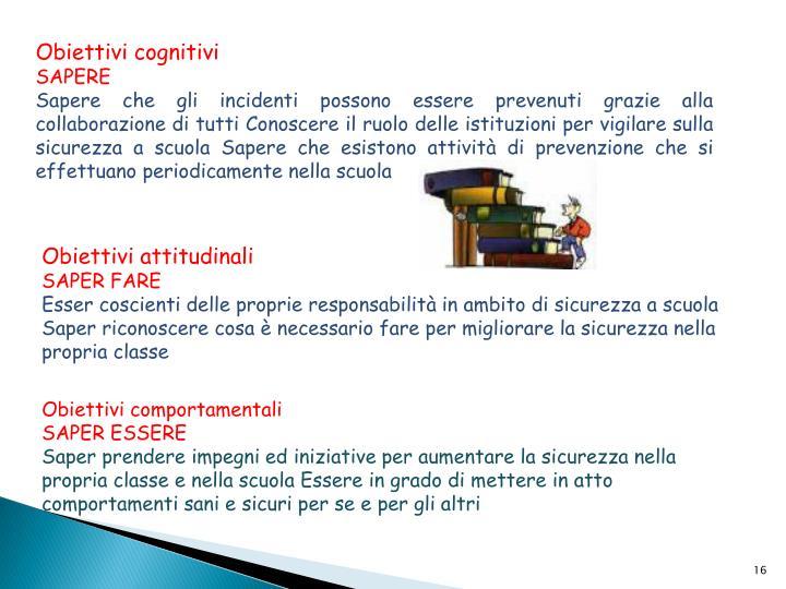 Obiettivi cognitivi